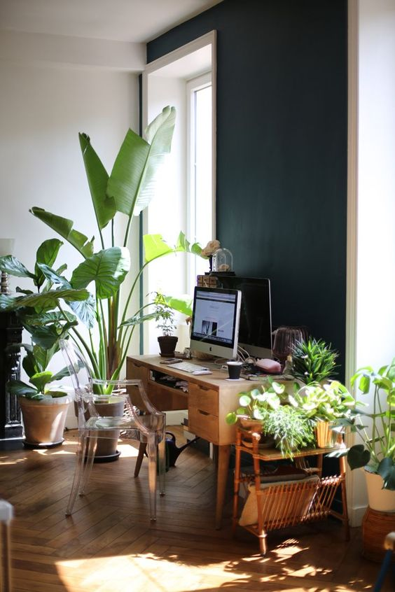 9 lush green jungle offices desk spaces jungle spaces. Black Bedroom Furniture Sets. Home Design Ideas