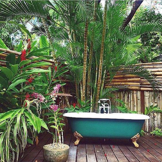 Jungle Bathtub Outside. Jungle Bathtub Outside. Via Tumblr.com