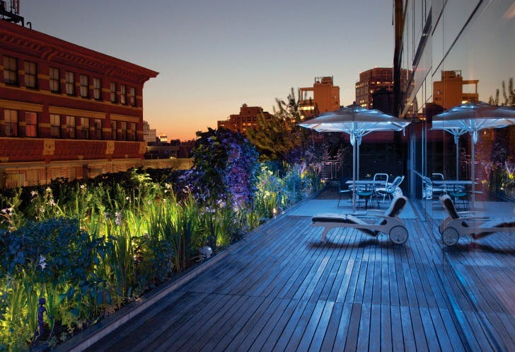New York Night Rooftop Garden